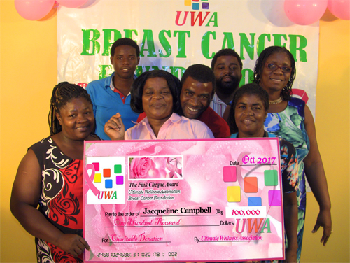 2017 UWA Breast Cancer Pink Cheque Award