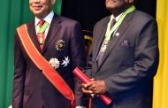 National Honour for Custos Pitkin at installation