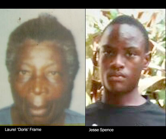 DOUBLE MURDER  • Grandmother, grandson victims