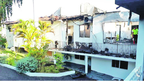Fire ravages guest house